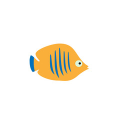 cute fish icons set fish flat vector image
