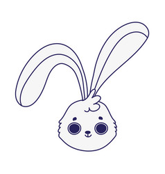 cute rabbit face cartoon character icon design vector image