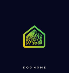 dog home template vector image