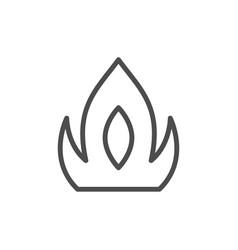 fire line icon vector image