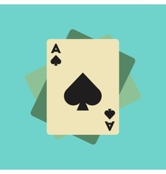 flat icon on background poker playing cards vector image