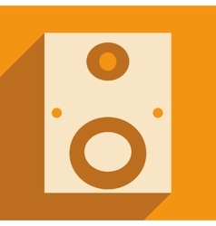 Flat with shadow icon and mobile applacation vector image
