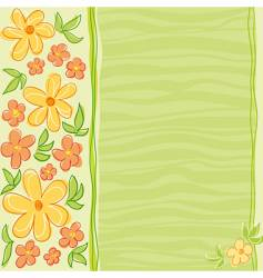 floral card design vector image