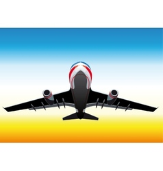 flying up passenger plane vector image