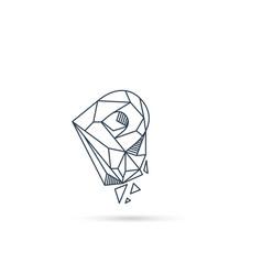 Gemstone letter p logo design icon template vector