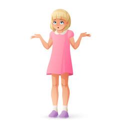 girl shrugging shoulders vector image