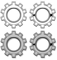 Graphic metal mechanical gear set vector