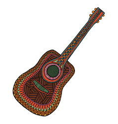 guitar tangle pattern vector image