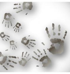 hand print vector image