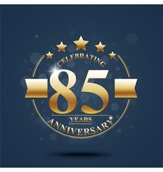 Happy anniversary celebration on Gold design vector