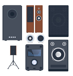home sound system stereo flat music vector image