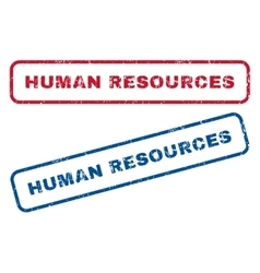Human Resources Rubber Stamps vector
