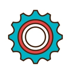 Industry and machinary isolatd flat icon vector