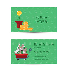 Investor businessman business card layout vector