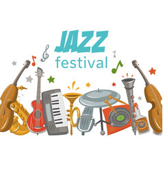 Jazz and blues festival or music party vector