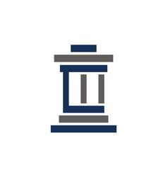 Law justice building vector
