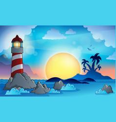 Lighthouse theme image 9 vector