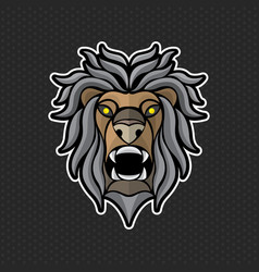 Lion logo design template lion head icon vector