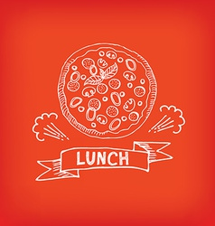 Lunch menu restaurant design vector image