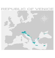 Map republic venice vector