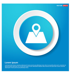 map with pointer icon vector image