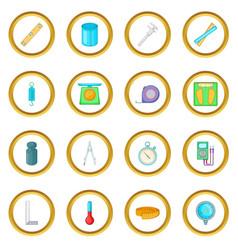 Measure tools icons circle vector