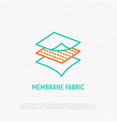 Membrane fabric thin line icon vector