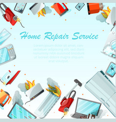 modern cartoon flat home repair service concept vector image