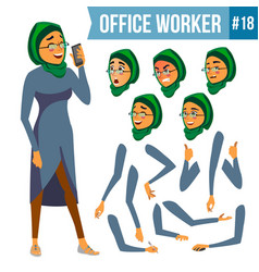 Office worker woman smiling servant vector