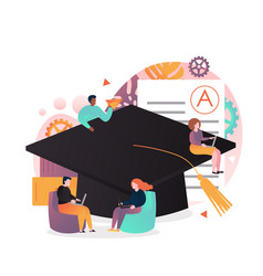 online education concept for web banner vector image