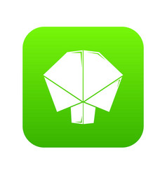 origami tree icon green vector image