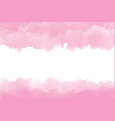 pink watercolor wet splash background digital vector image