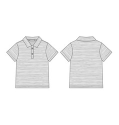 Polo t-shirt in melange fabric isolated on white vector