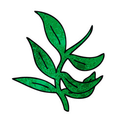 Quirky hand drawn cartoon vines vector