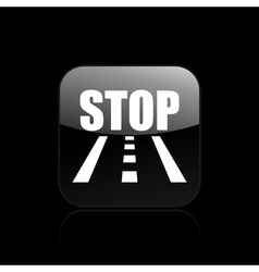 Road stop icon vector