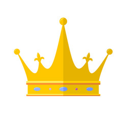 Royal crown flat icon isolated on white vector