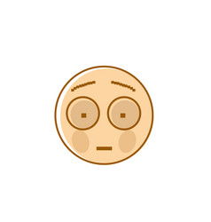 Sad cartoon face shocked negative people emotion vector