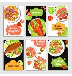 Seafood Cards Banners vector image