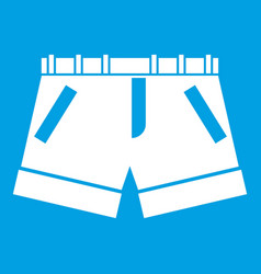 Shorts icon white vector