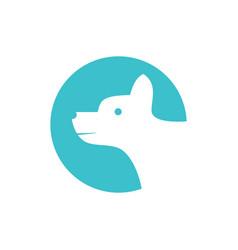 simple cute dog logo vector image