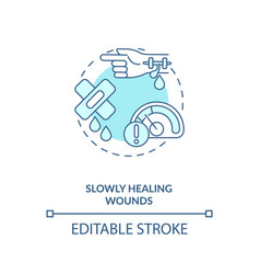 Slowly healing wounds concept icon vector