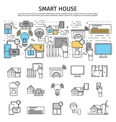 Smart house flat composition vector