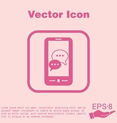 smartphon cloud of speaking dialogue vector image