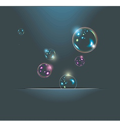 Soap bubbles isolated on black extremely detailed vector