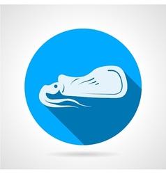 Squid flat round icon vector image