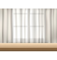 Table and curtain background vector