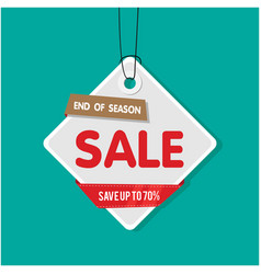 tag sale end of season sale save up to 70 vector image