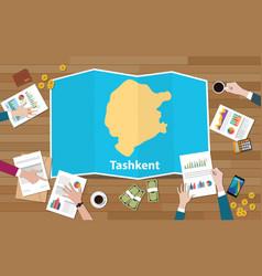 Tashkent uzbekistan city region economy growth vector