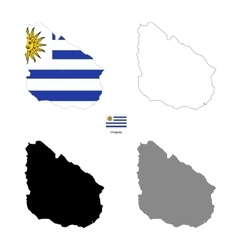 uruguay kingdom country black silhouette vector image