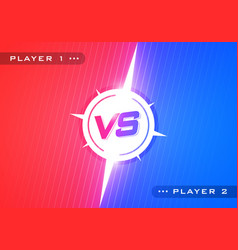 Versus screen design red and blue vs letter vector